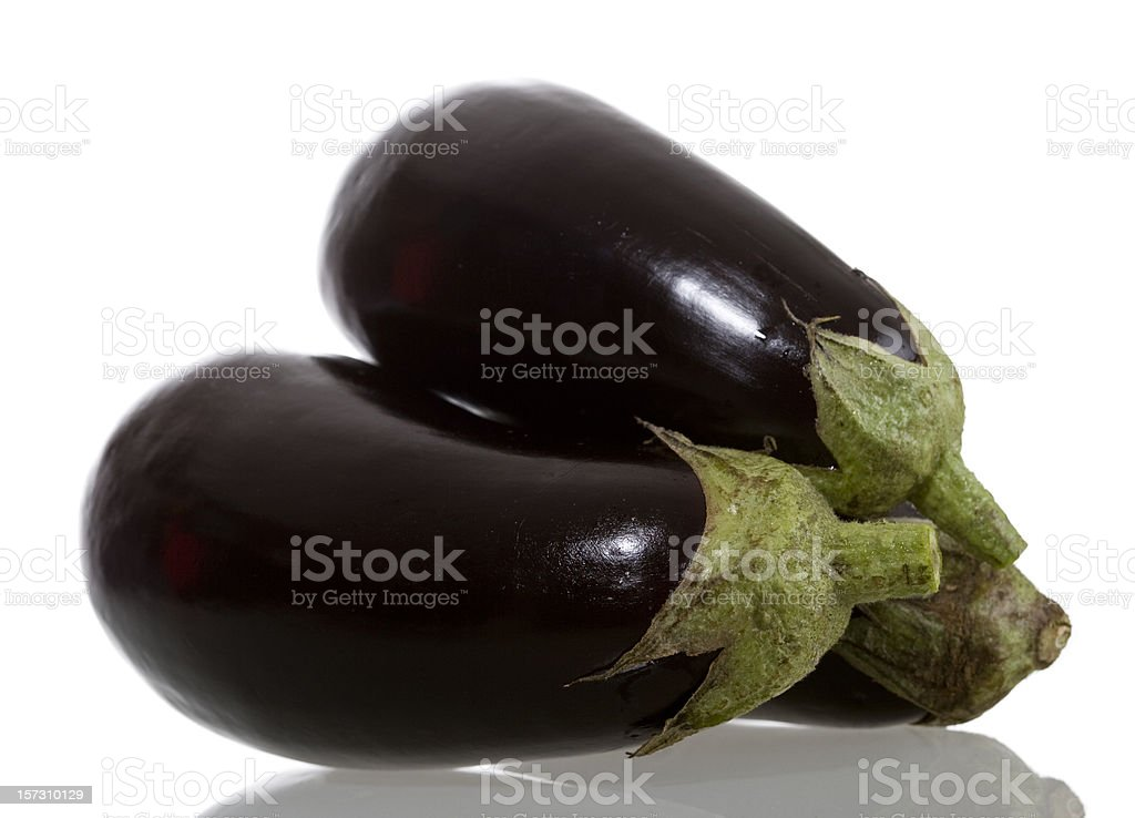 Eggplant on white background royalty-free stock photo