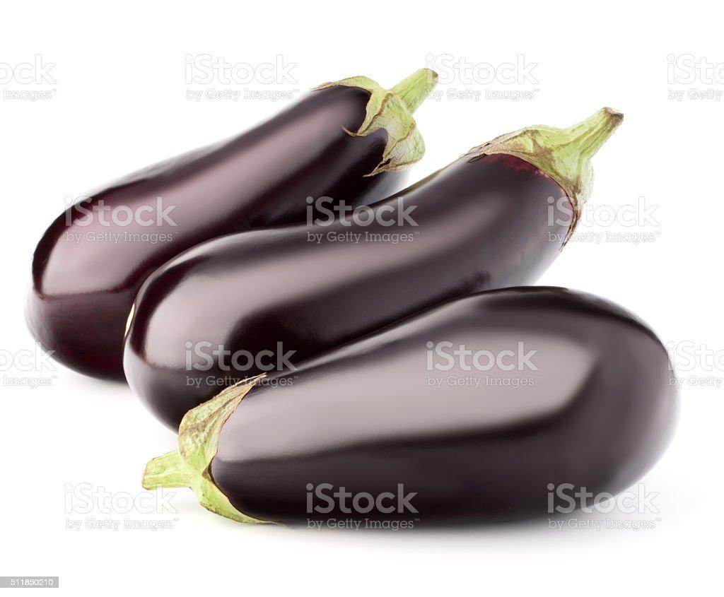 Eggplant or aubergine vegetable isolated on white background cut stock photo