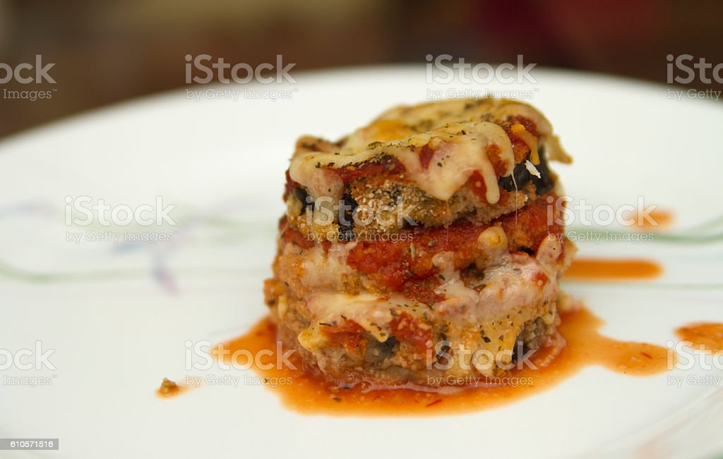 Eggplant Parmesan stock photo