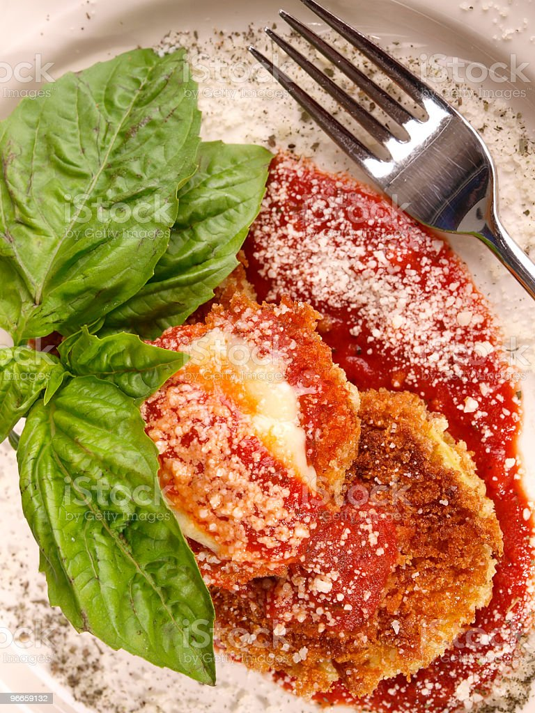 Eggplant Parmesan royalty-free stock photo