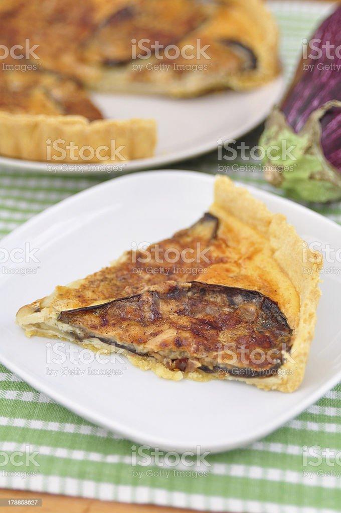 Eggplant Quiche royalty-free stock photo