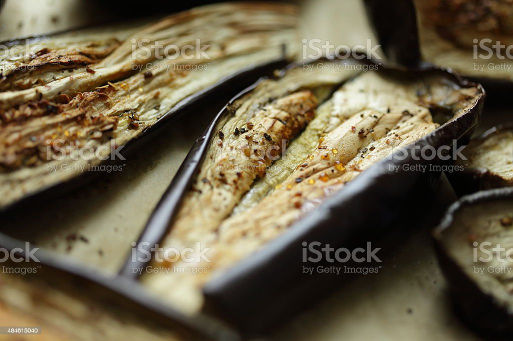 Eggplant roasted stock photo