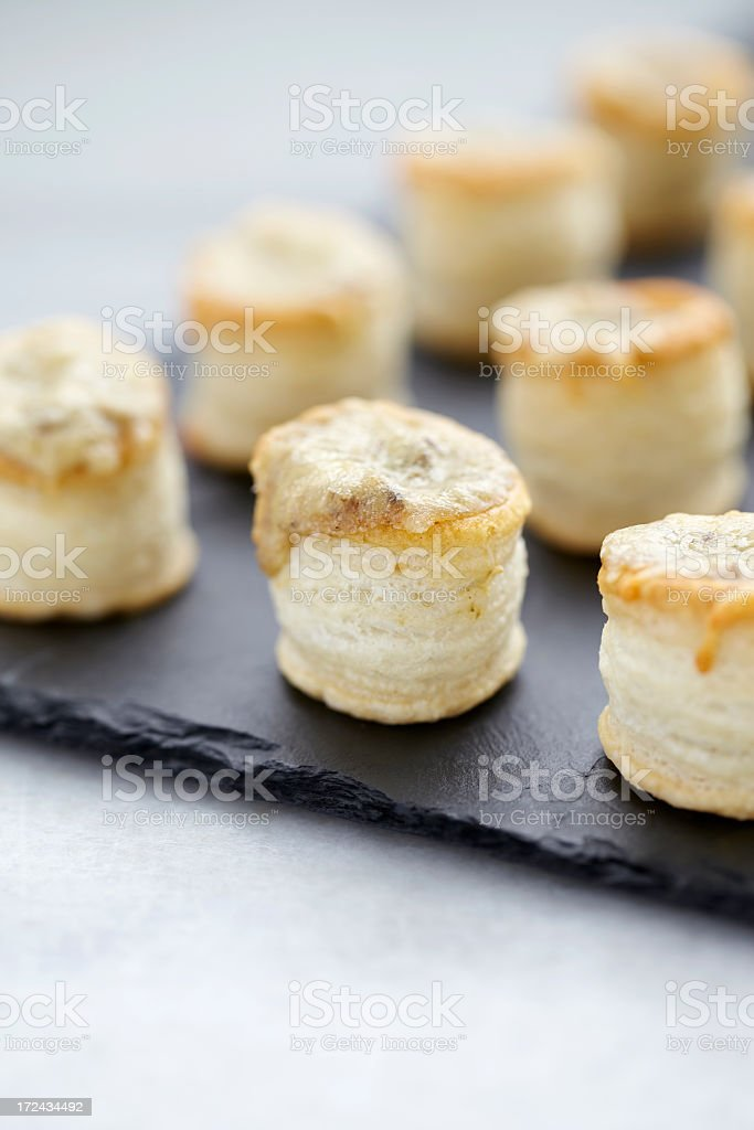 Eggplant tapenade tartlets royalty-free stock photo