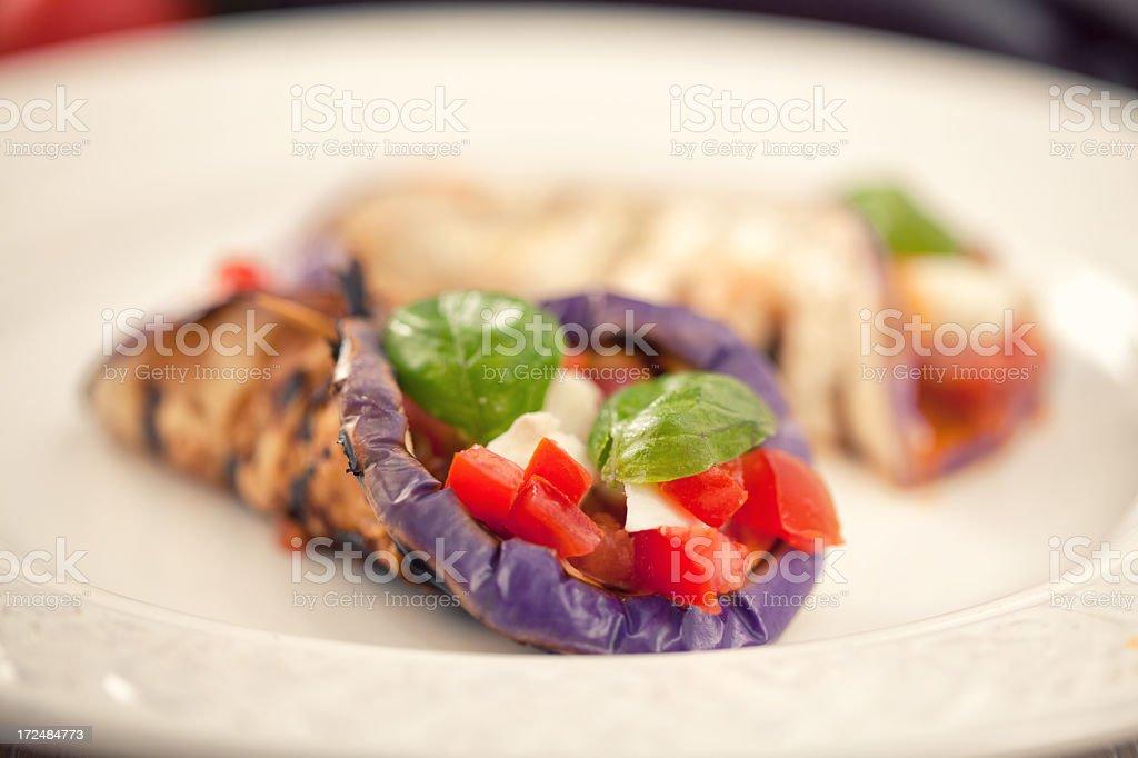 Eggplants Parmigiana stock photo