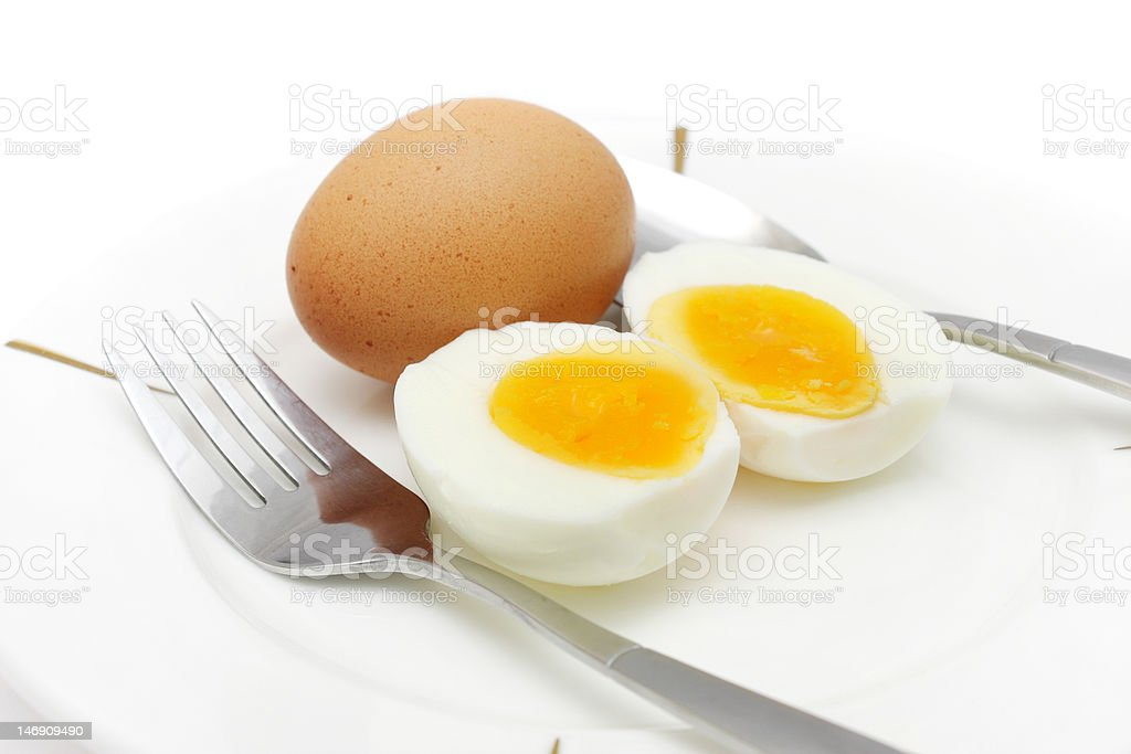 Eggs And Cutlery royalty-free stock photo