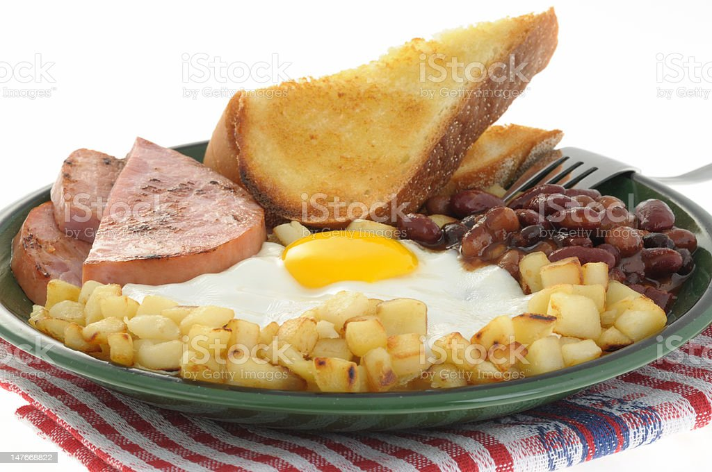 Eggs and Ham royalty-free stock photo