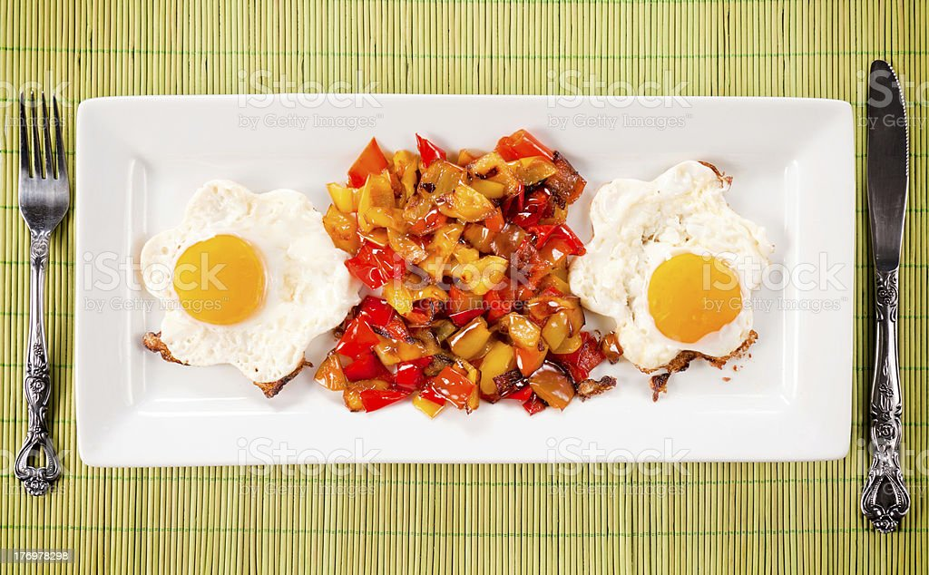 Eggs and pepper royalty-free stock photo