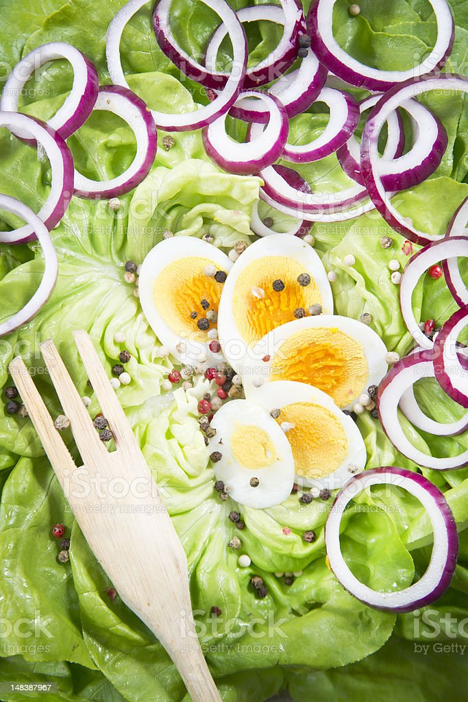 Eggs and salad royalty-free stock photo