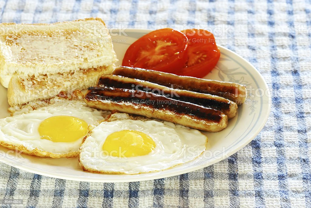 Eggs and sausages royalty-free stock photo
