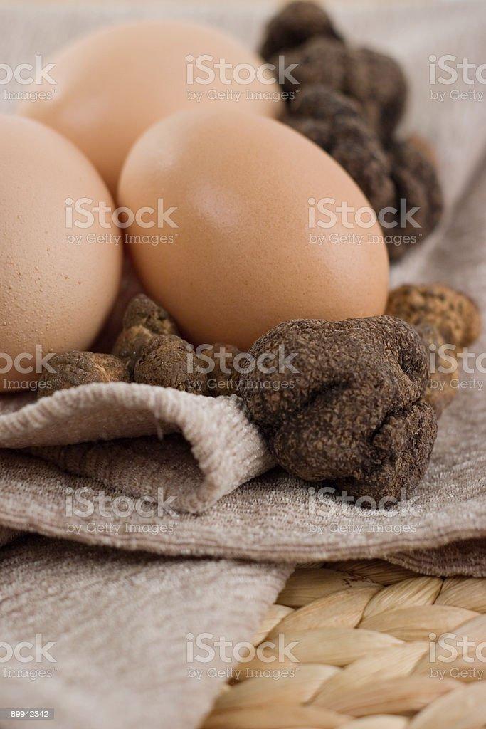 Eggs and Truffles stock photo