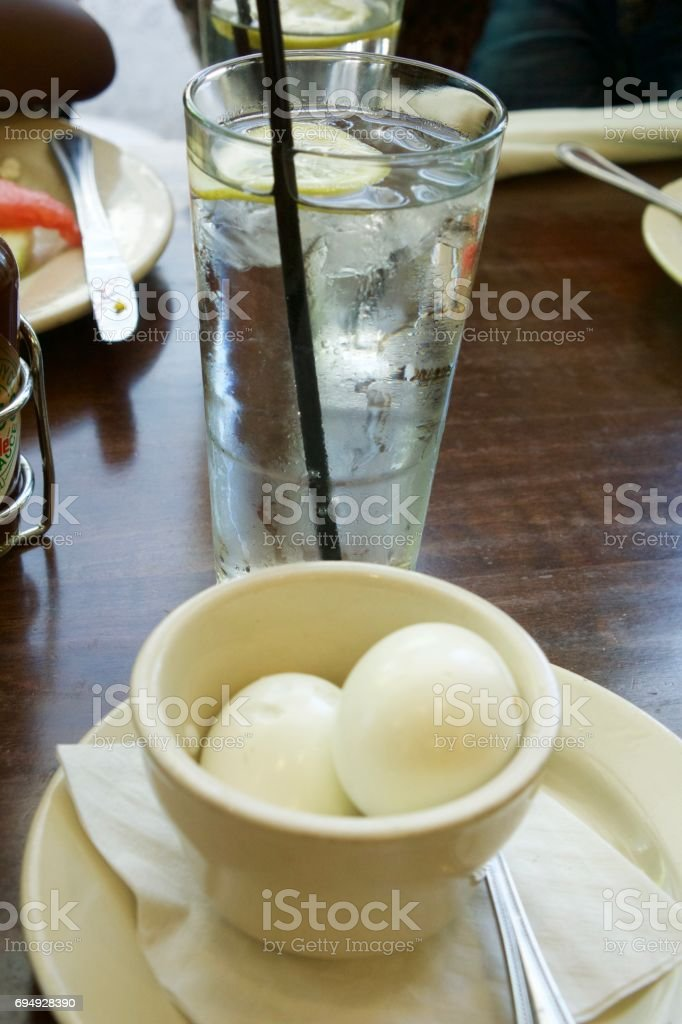 Eggs and Water stock photo