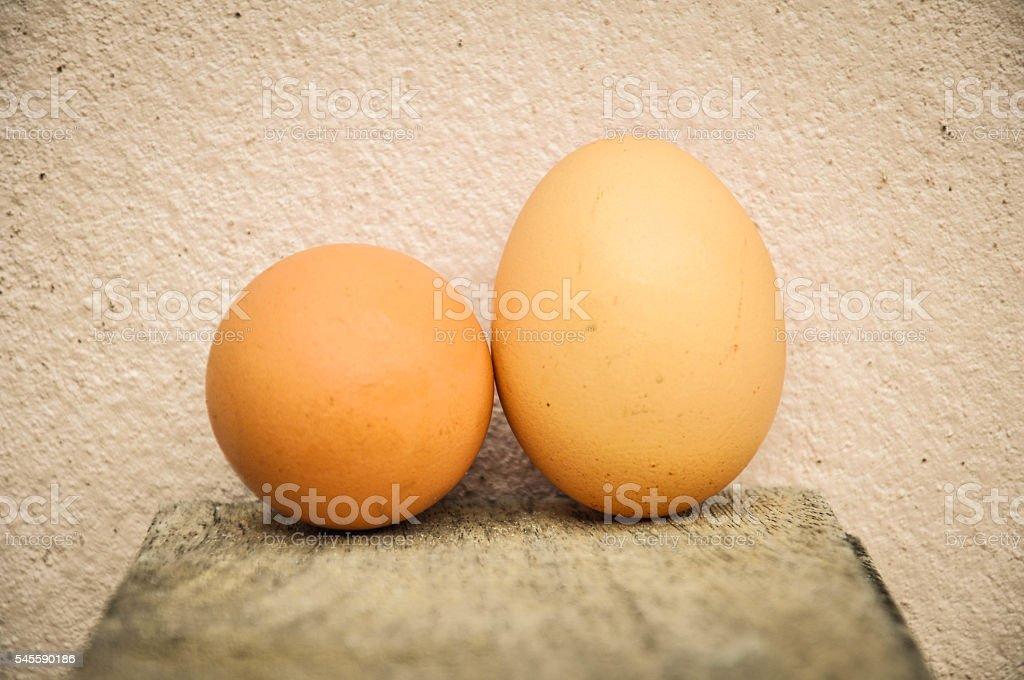 Eggs background stock photo