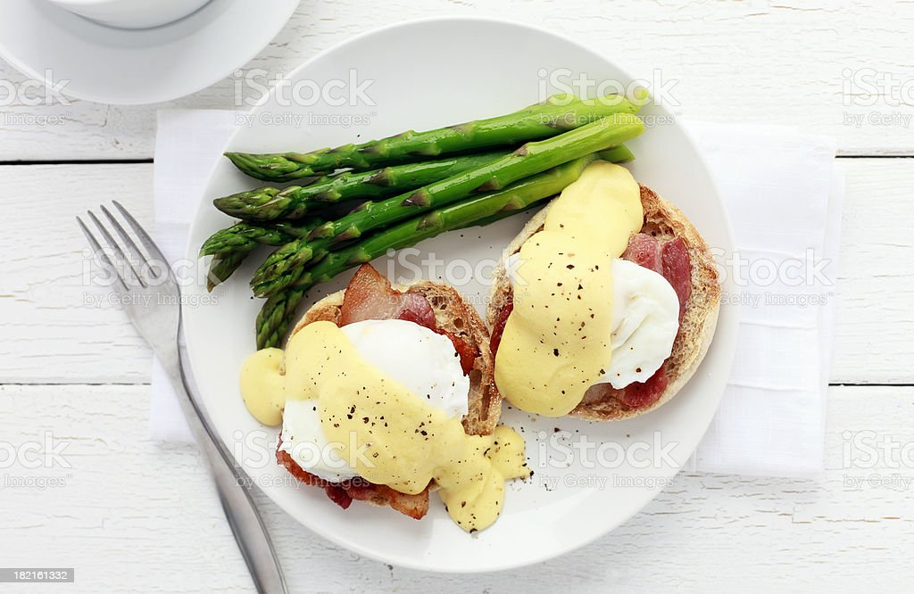 Eggs Benedict stock photo