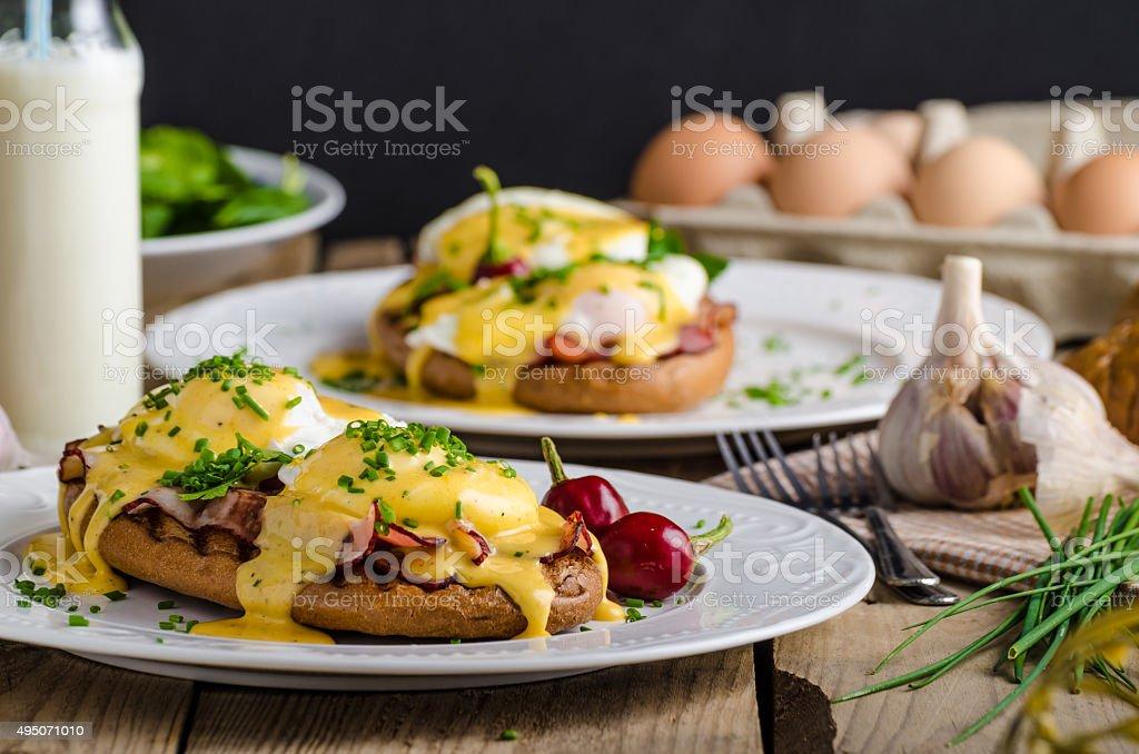 Eggs Benedict stock photo