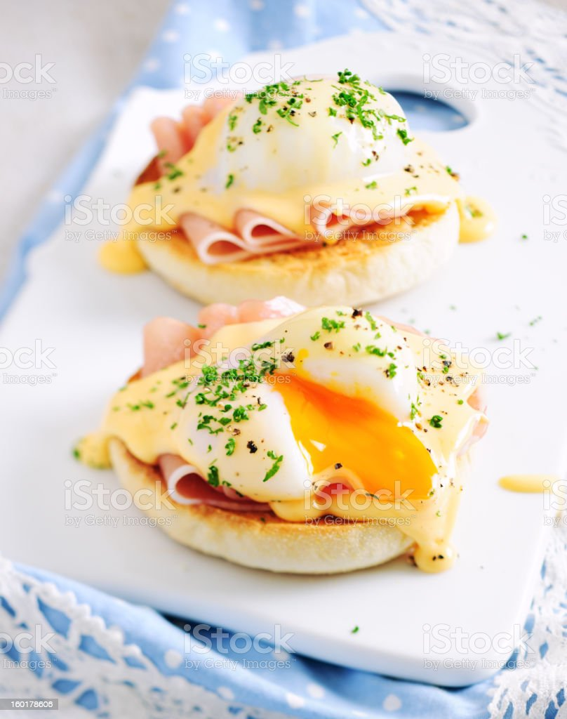 Eggs Benedict Sandwiches stock photo