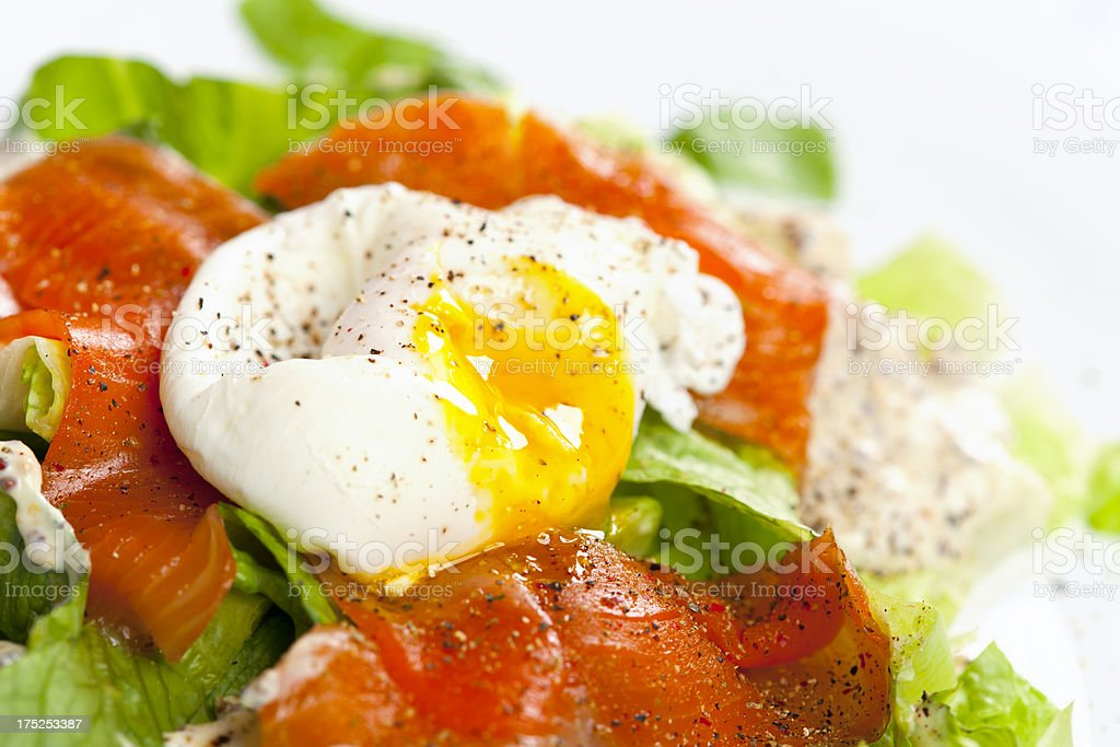eggs benedict with salmon royalty-free stock photo