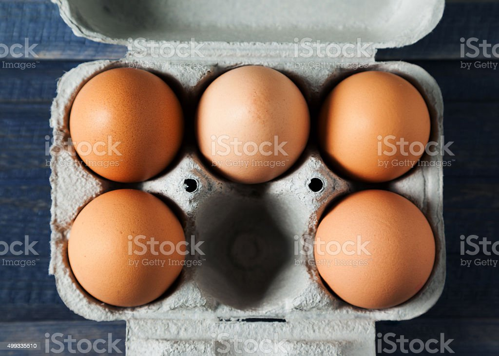 eggs box stock photo