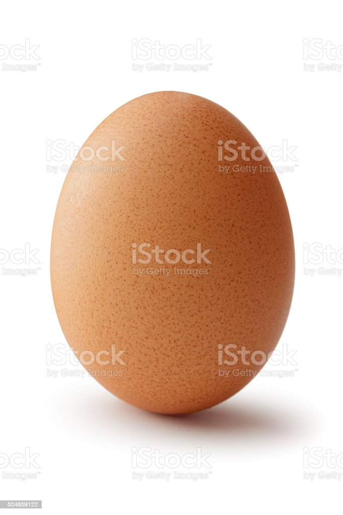 Eggs: Brown Egg Isolated on White Background stock photo