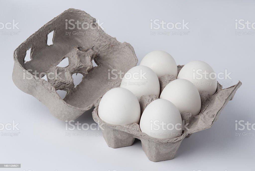 Eggs carton stock photo