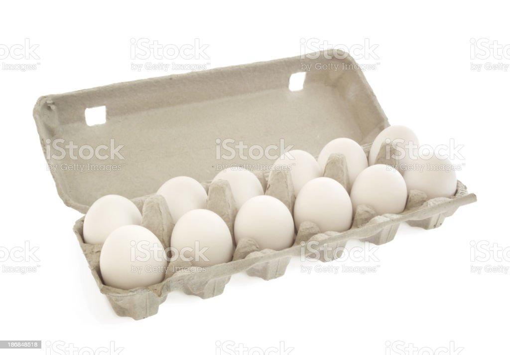 Eggs carton royalty-free stock photo