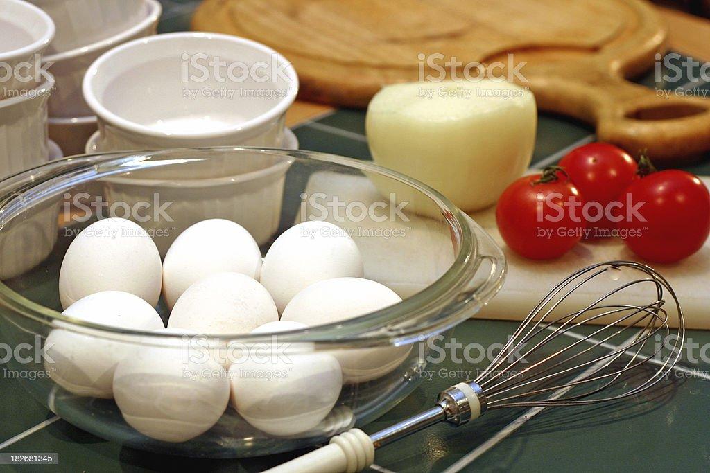 Eggs & Egg Beater stock photo