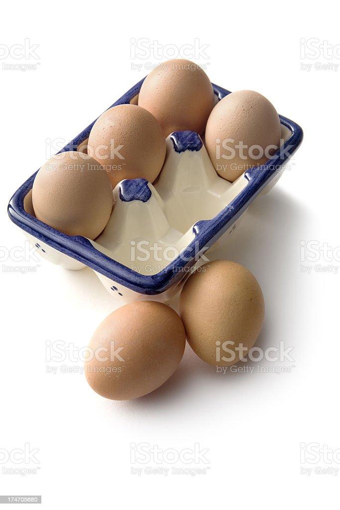 Eggs: Egg Carton Isolated on White Background royalty-free stock photo