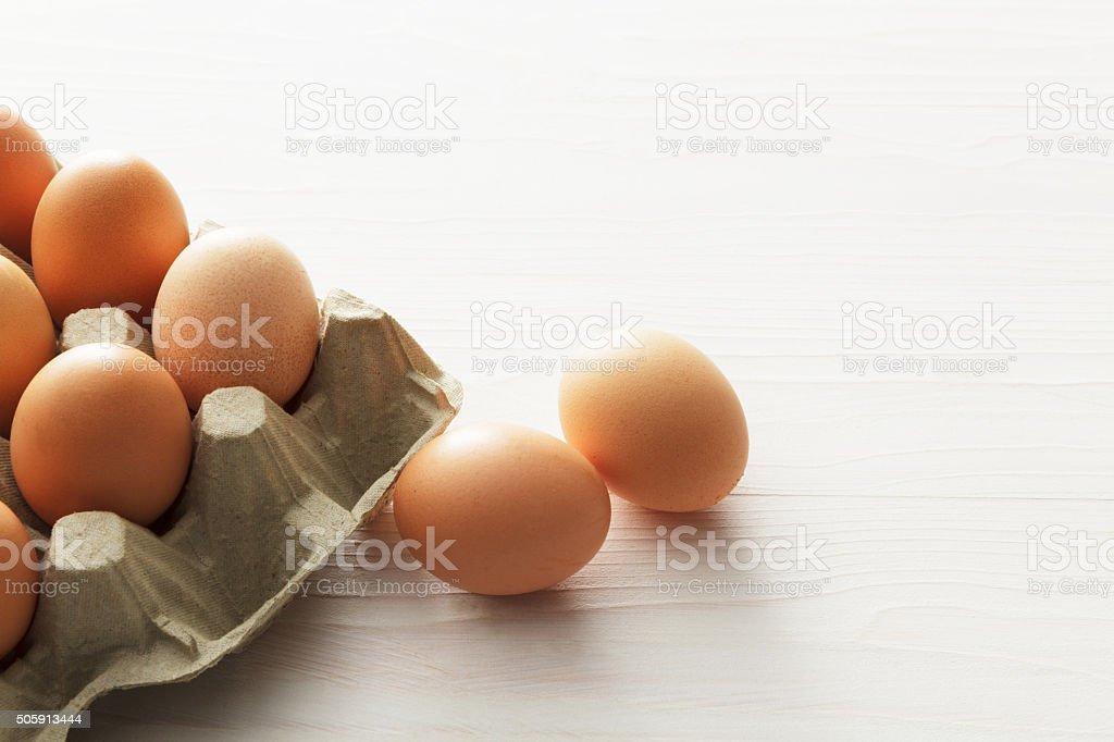 Eggs: Egg Carton stock photo