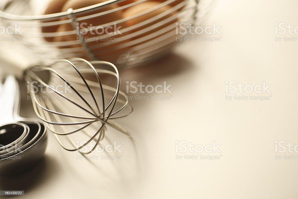 Eggs & Egg Whisk royalty-free stock photo