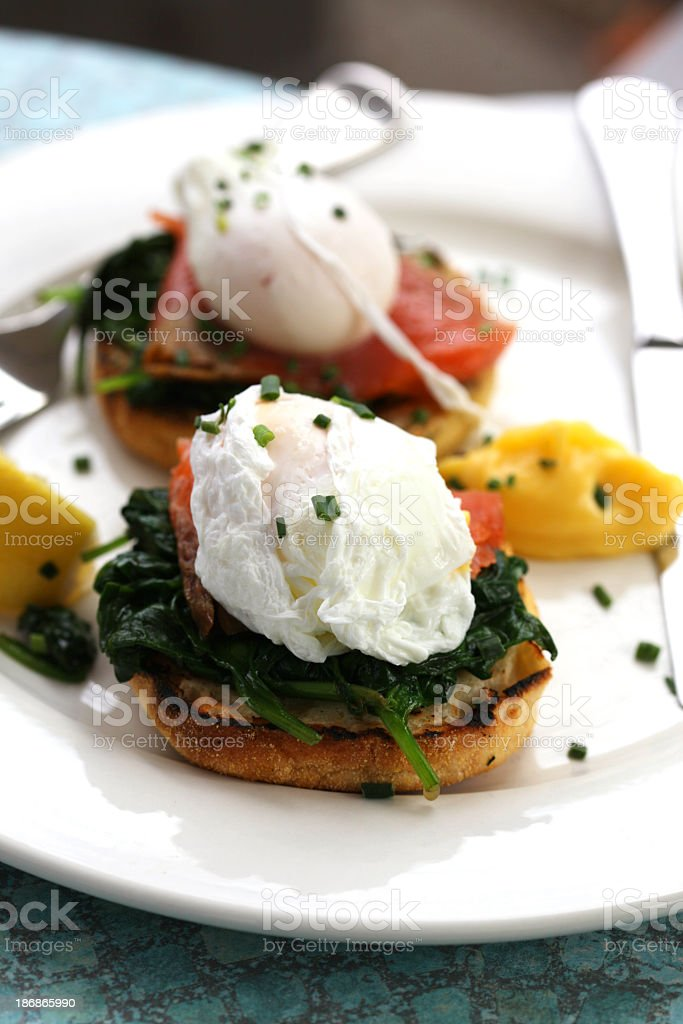 Eggs Florentine stock photo