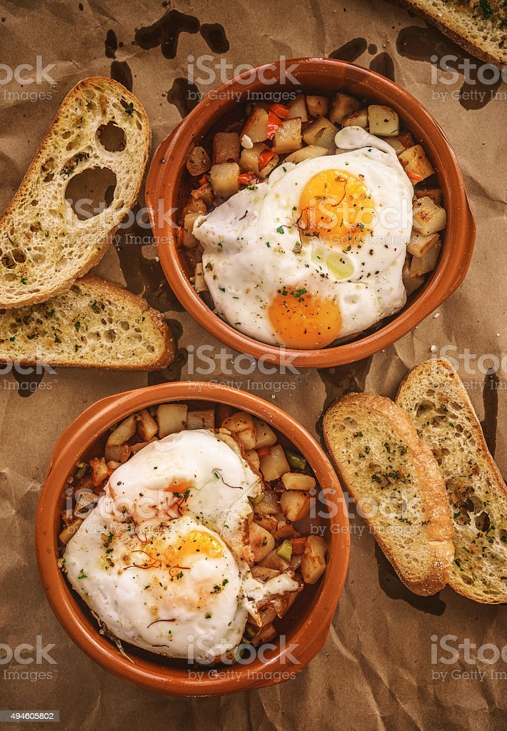 Eggs for brunch stock photo