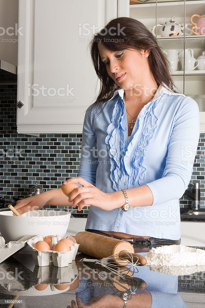 Eggs for dough royalty-free stock photo