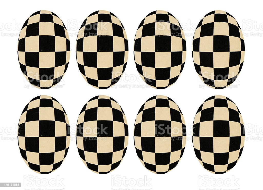 eggs forms chessboard transformation stock photo