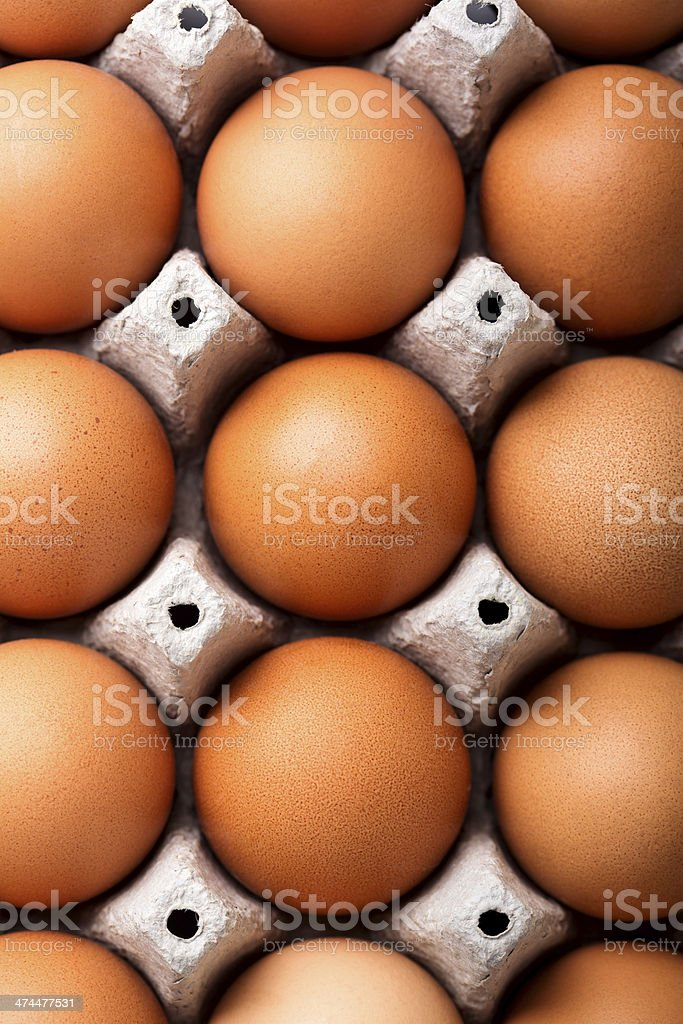 Eggs from above stock photo