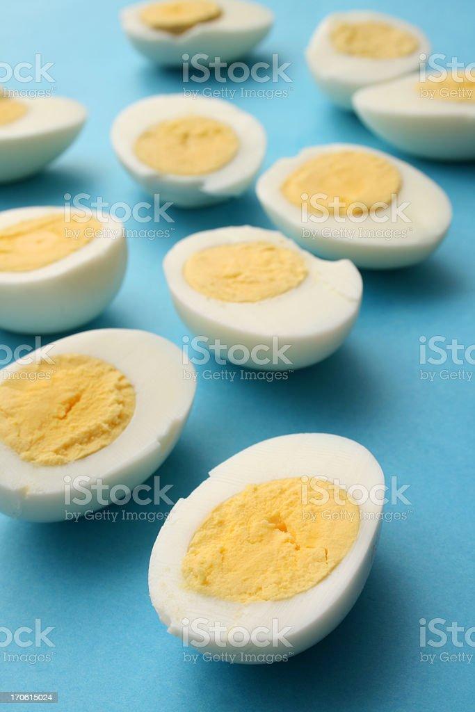 Eggs halves royalty-free stock photo