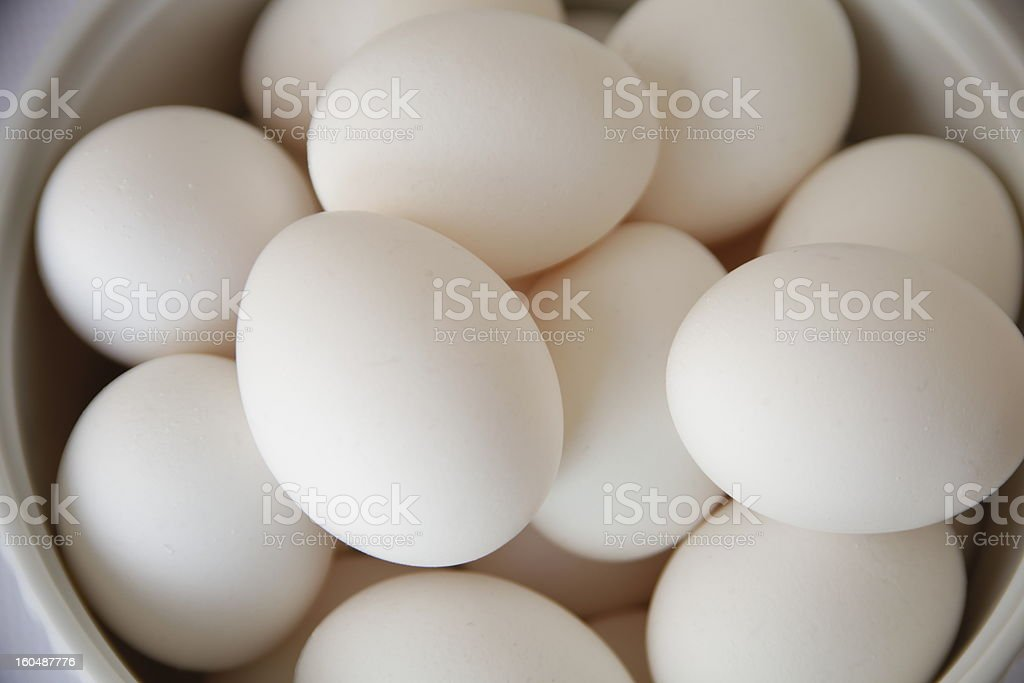 Eggs in a bowl royalty-free stock photo