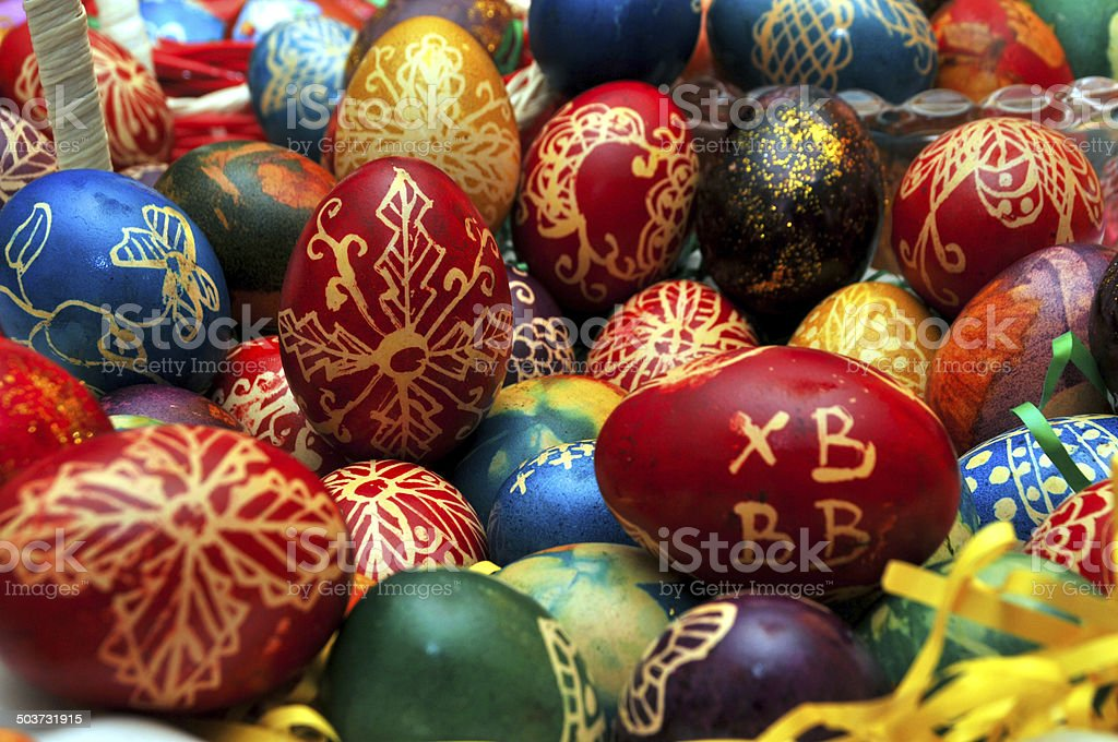 Eggs in a pile royalty-free stock photo