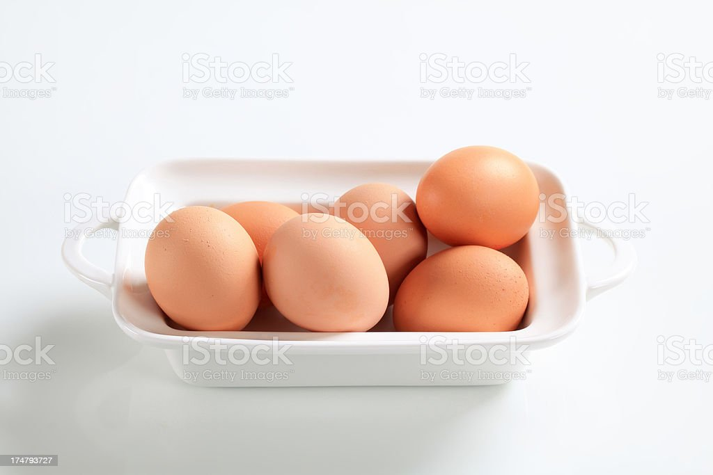 Eggs in a tray royalty-free stock photo