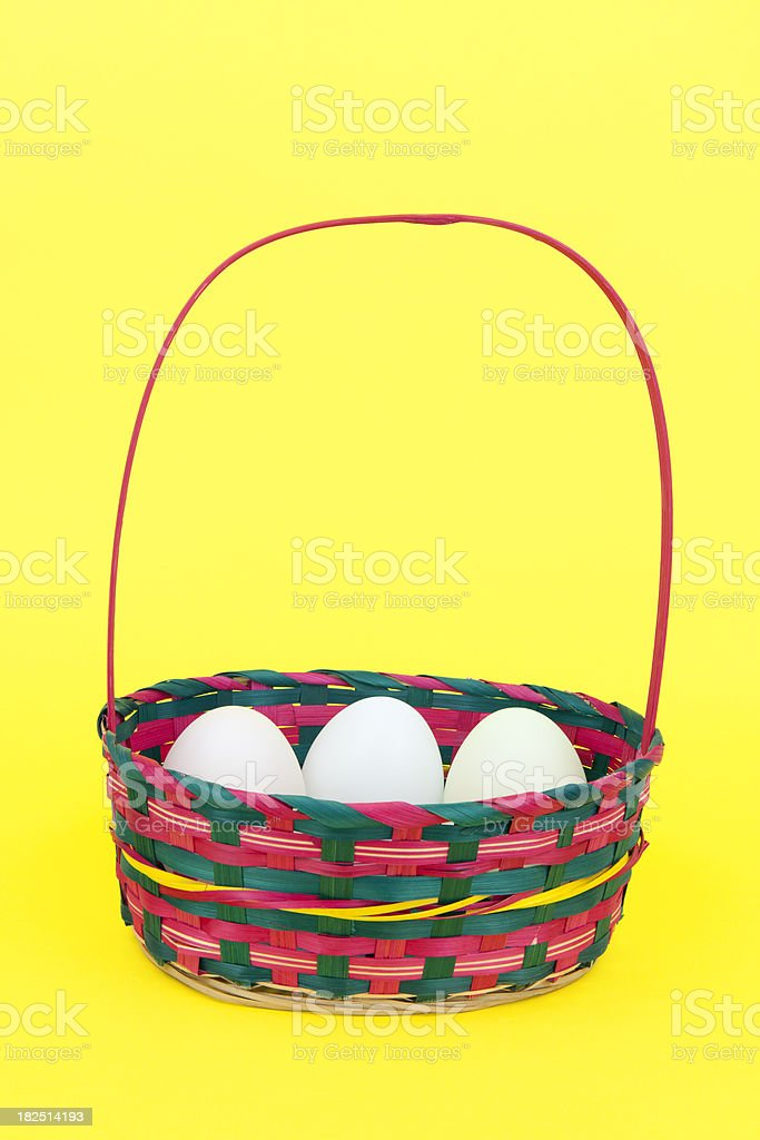 Eggs in Basket royalty-free stock photo