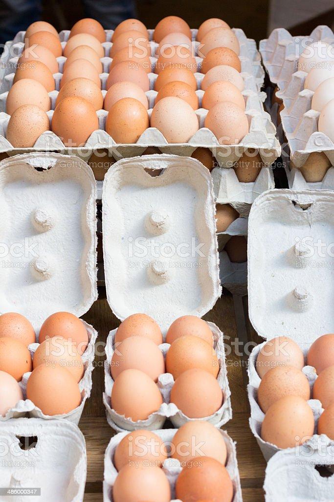 Eggs in Borough Market, LOndon royalty-free stock photo