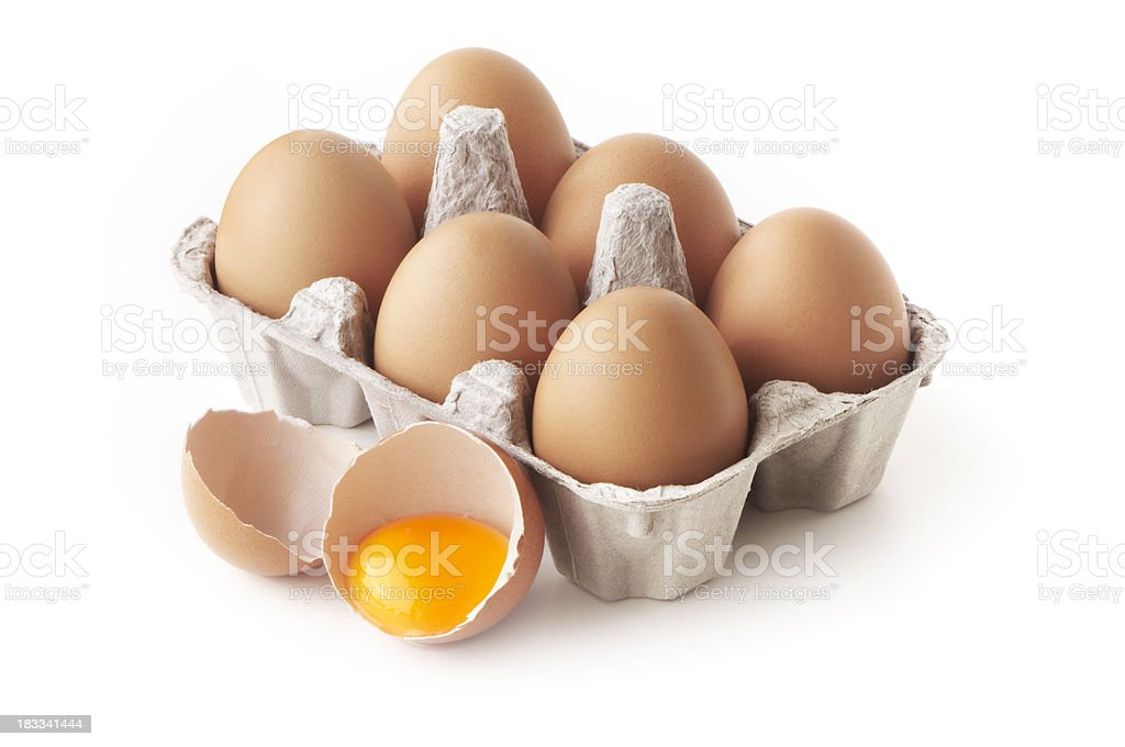 Eggs in carton stock photo