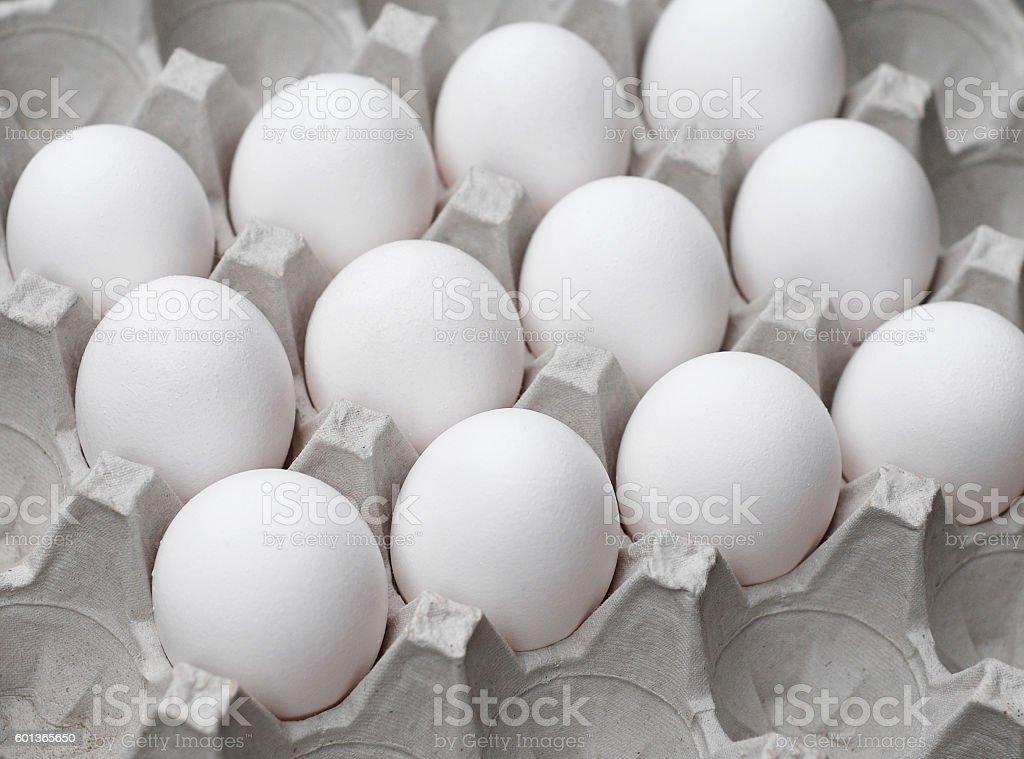 Eggs in Carton stock photo