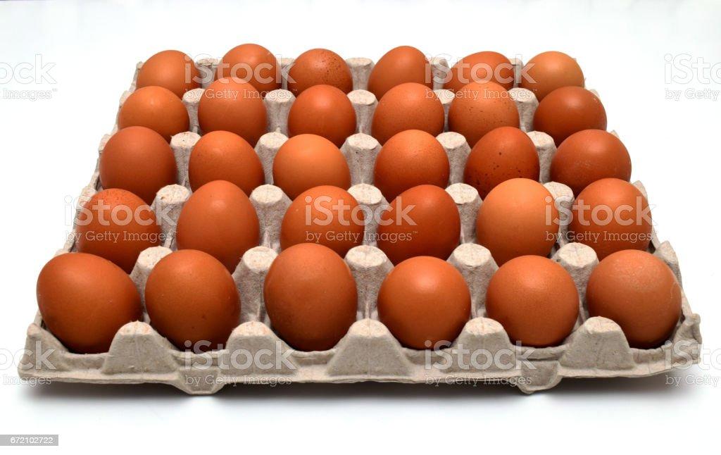 eggs in formwork stock photo