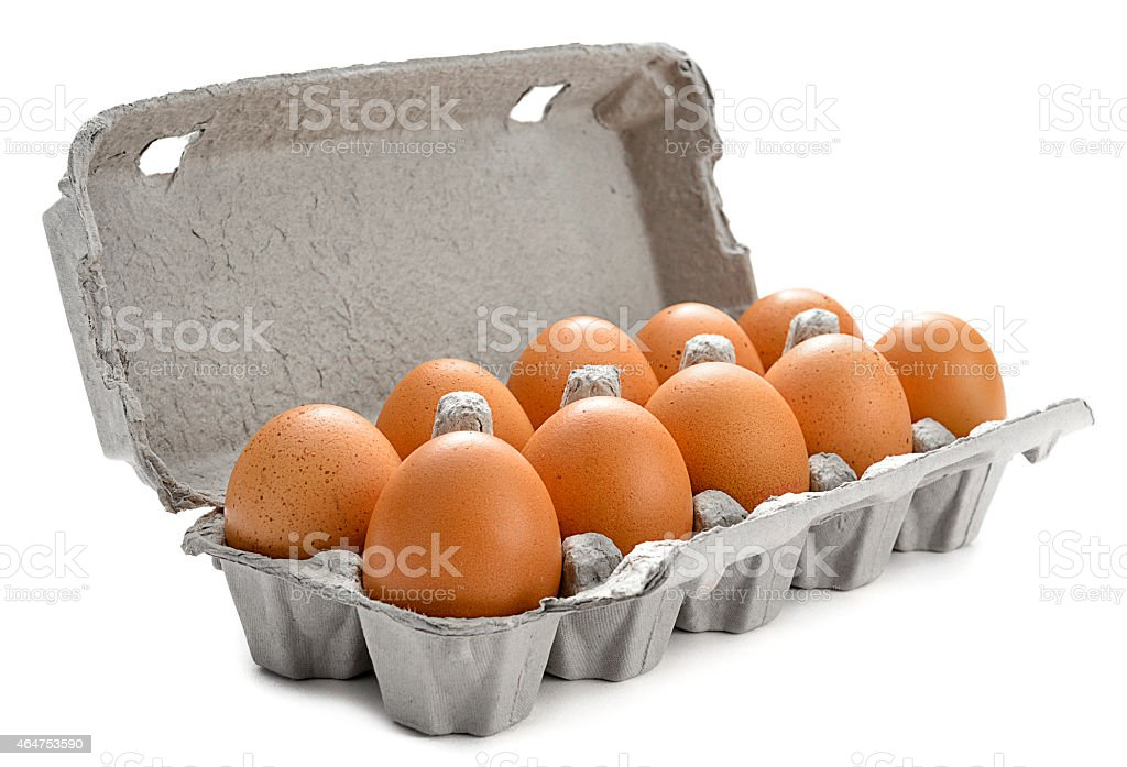 Eggs in Market Package stock photo