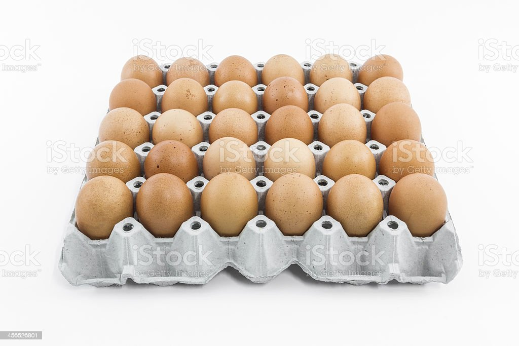 Eggs in package. stock photo