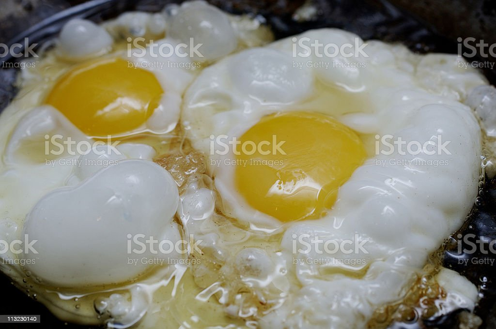 Eggs in pan  frying royalty-free stock photo