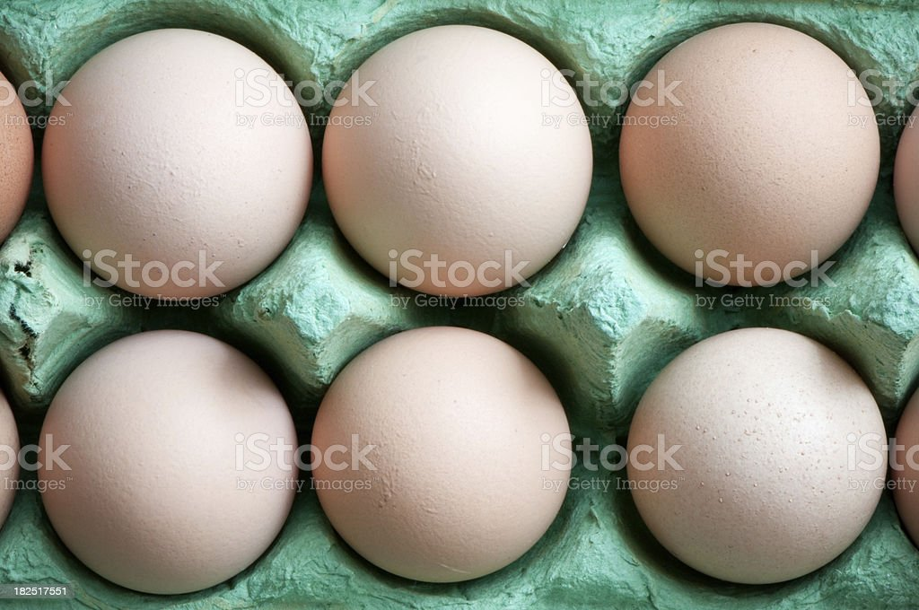 Eggs in paper packaging, biologically sustainable, green, organic food stock photo
