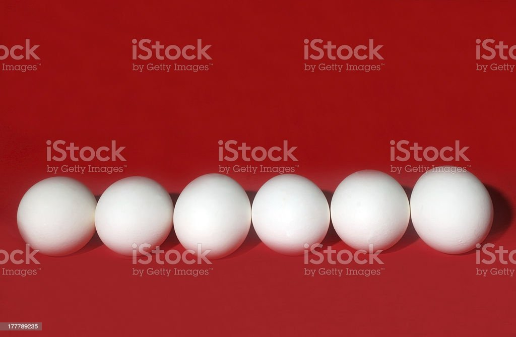 Eggs in Red royalty-free stock photo