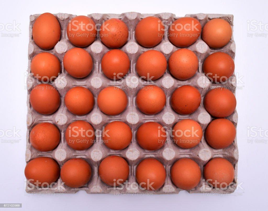eggs in tray stock photo