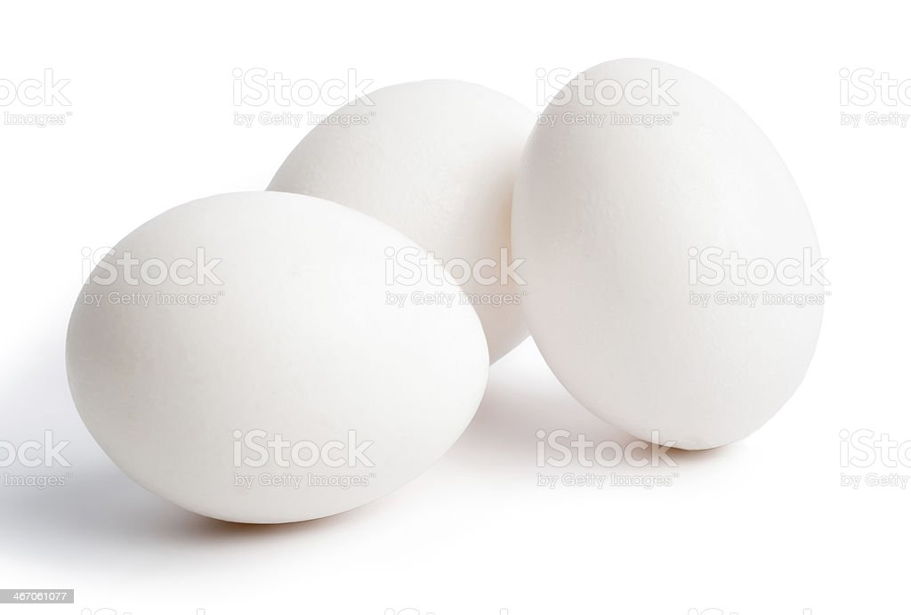 Eggs Isolated on a  White Background stock photo
