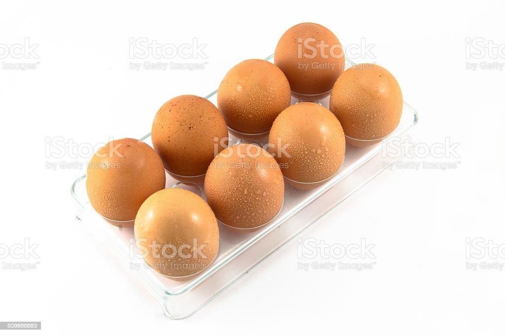 eggs isolated stock photo